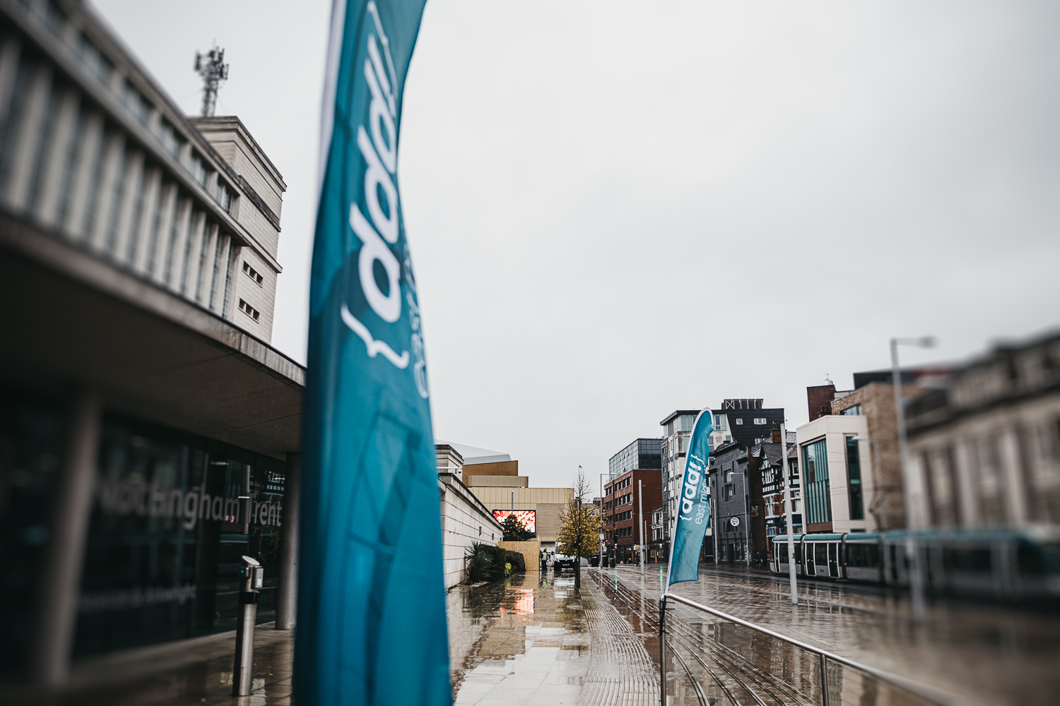 The DDD Flags outside Nottingham Conference Centre